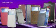 Чехол-книжка кожаный Оскар для Samsung N9000 Not 3 с окошком